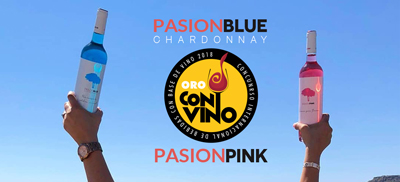Vino Azul Pasion Blue y Pasion Pink medallas de oro concurso internacional ConVino 2018