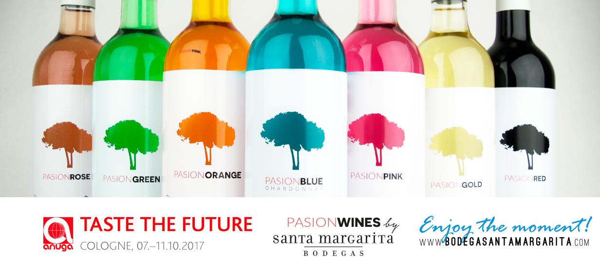Bodega Santa Margarita participa en Anuga, la feria alimentaria más importante de Europa, con sus vinos de colores Pasion Wines - Pasion Blue