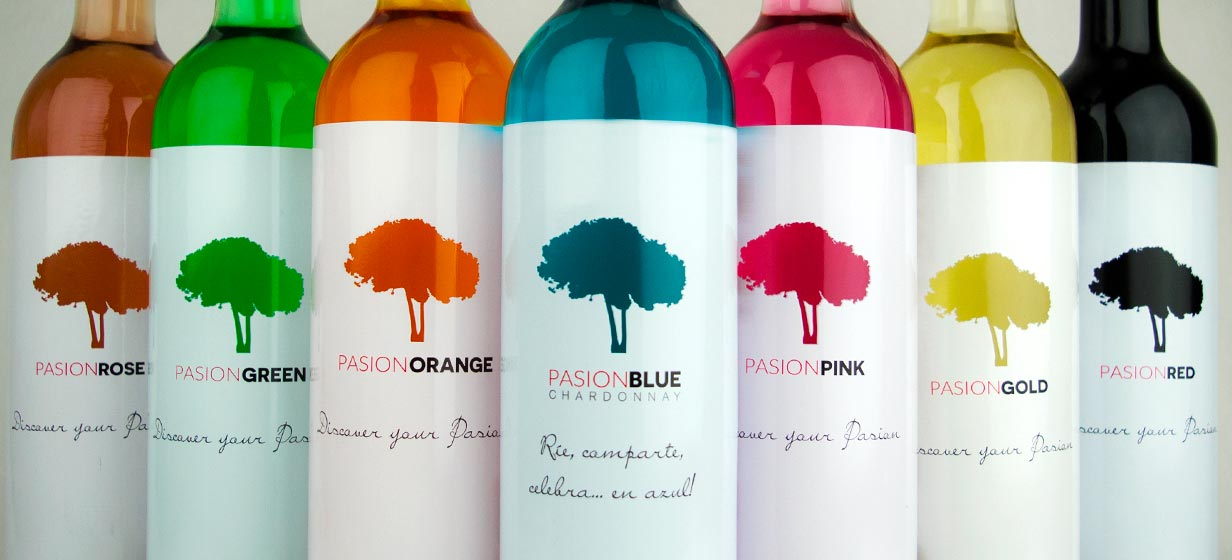 Vinos Pasion Wines by Bodega Santa Margarita - Vinos de colores - Vino Azul - Vino Rosa
